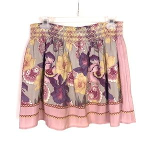 Anthro Kimchee & Blue Dusty Pink Floral Skirt